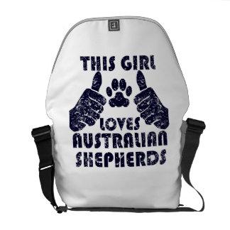 This Girl Loves Australian Shepherds Courier Bags