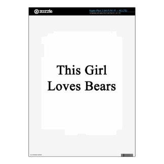This Girl Loves Bears iPad 3 Decal