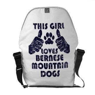 This Girl Loves Bernese Mountain Dogs Messenger Bag