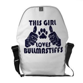 This Girl Loves Bullmastiffs Courier Bag