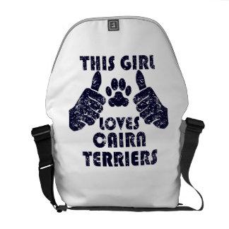 This Girl Loves Cairn Terriers Messenger Bag