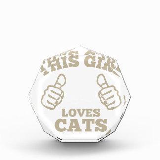 This Girl Loves Cats Acrylic Award