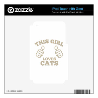 This Girl Loves Cats iPod Touch 4G Skins