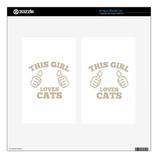 This Girl Loves Cats Kindle Fire Decals