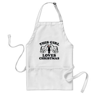 This Girl Loves Christmas Adult Apron