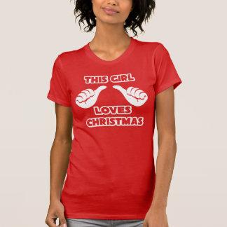 This Girl Loves Christmas American Apparel Shirt