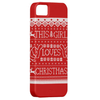 This Girl Loves Christmas Ugly Sweater iPhone 5 iPhone SE/5/5s Case