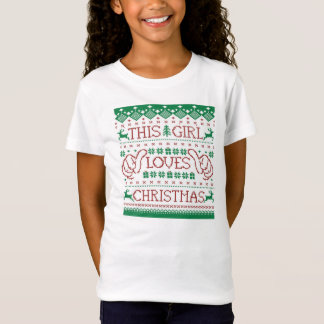 This Girl Loves Christmas Ugly Sweater Youth Shirt