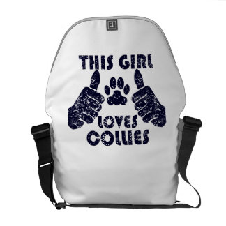 This Girl Loves Collies Courier Bag