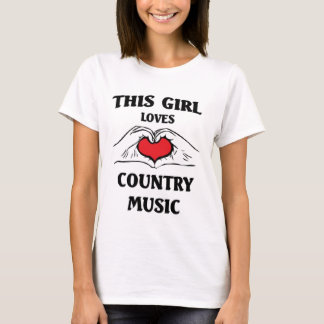 This girl loves Country Music T-Shirt
