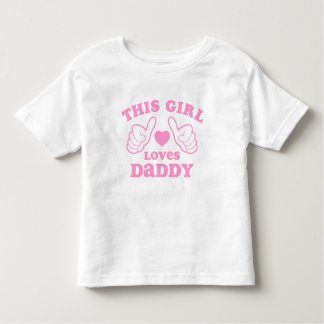 This Girl Loves Daddy Toddler T-shirt