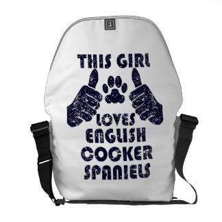 This Girl Loves English Cocker Spaniels Messenger Bags