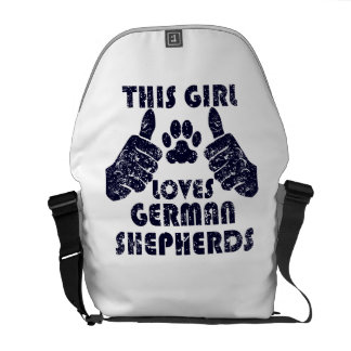 This Girl Loves German Shepherds Courier Bags