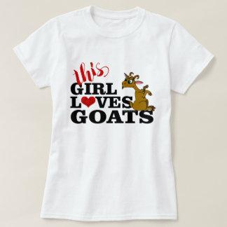 This Girl Loves Goats Sitting Cartoon Goat T-Shirt