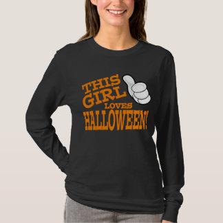This Girl Loves Halloween (orange) T-Shirt