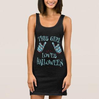 This Girl Loves Halloween Zombie Halloween Sleeveless Dress