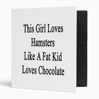 This Girl Loves Hamsters Like A Fat Kid Loves Choc Vinyl Binders