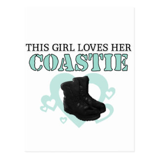 This Girl loves her Coastie Postcard