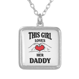 This girl loves her Daddy Square Pendant Necklace