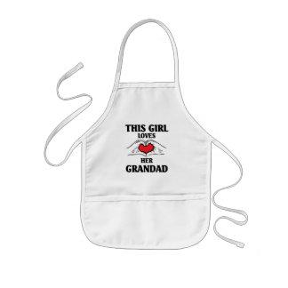 This girl loves her grandad kids' apron