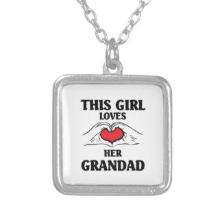 This girl loves her Grandad Silver Plated Necklace