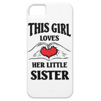 This girl loves her Little sister iPhone SE/5/5s Case