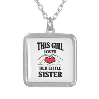 This girl loves her Little sister Silver Plated Necklace