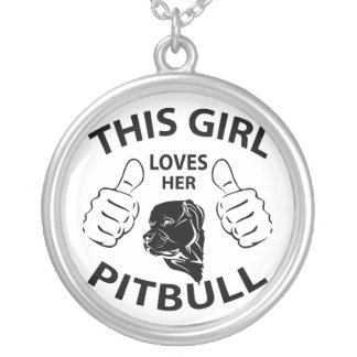 """""""This girl Loves her pitbull"""" black Jewelry"""