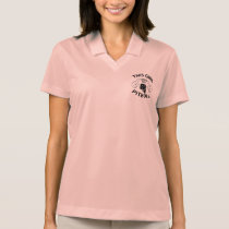 """This girl Loves her pitbull"" black Polo Shirt"