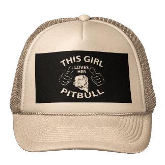 """""""This girl Loves her pitbull"""" Cap"""