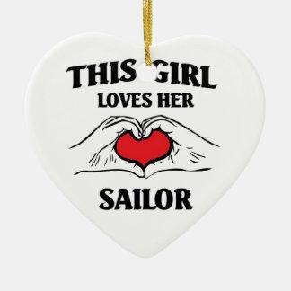 This girl loves Her Sailor Ceramic Ornament