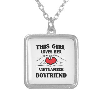 This Girl loves her Vietnamese Boyfriend Silver Plated Necklace
