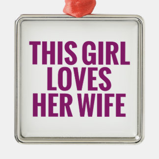 This Girl Loves Her Wife Christmas Tree Ornaments