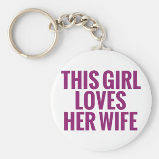 This Girl Loves Her Wife Keychain