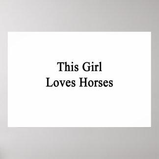 This Girl Loves Horses Poster