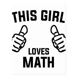 This Girl Loves Math Postcard