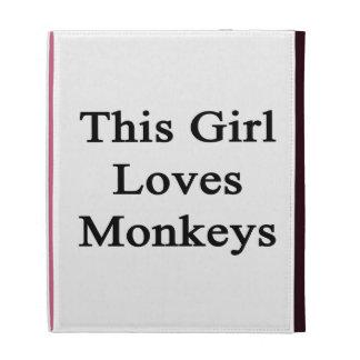 This Girl Loves Monkeys iPad Folio Cases