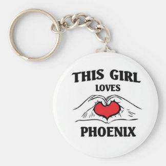 This girl loves Phoenix Keychain