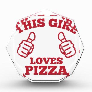 This Girl Loves Pizza Award