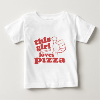 This Girl Loves Pizza Baby T-Shirt