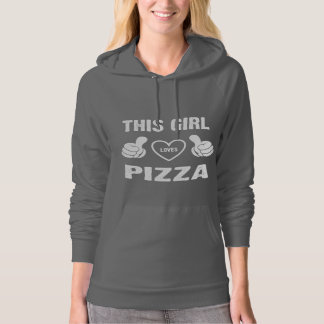 THIS GIRL LOVES PIZZA HOODED SWEATSHIRT