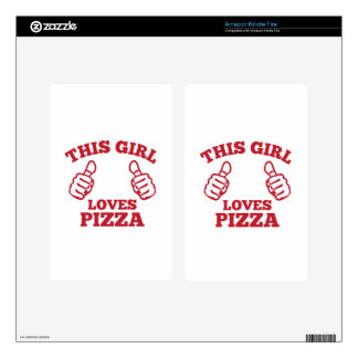 This Girl Loves Pizza Kindle Fire Skin