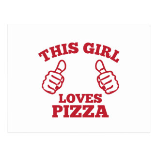 This Girl Loves Pizza Postcard