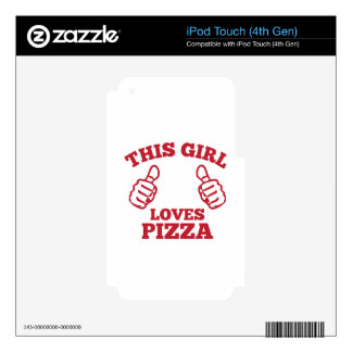 This Girl Loves Pizza Skin For iPod Touch 4G