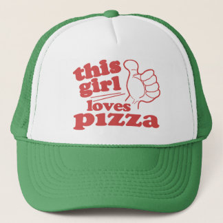 This Girl Loves Pizza Trucker Hat