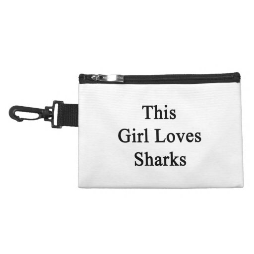 This Girl Loves Sharks Accessory Bag
