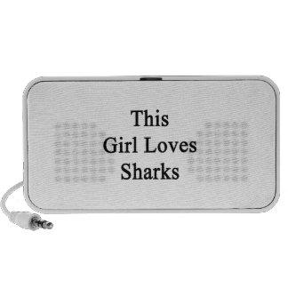 This Girl Loves Sharks Laptop Speakers