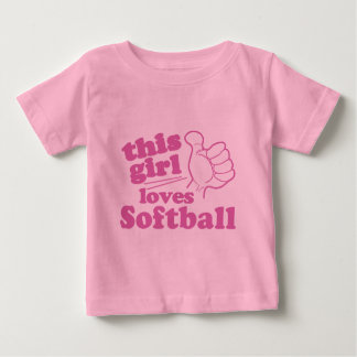 This Girl Loves Softball Baby T-Shirt