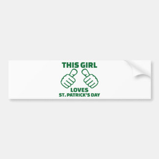 This girl loves St. Patrick's day Car Bumper Sticker