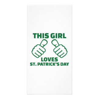 This girl loves St. Patrick's day Card
